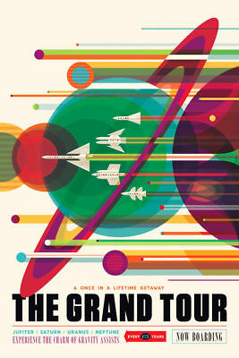 190118 NASA Space TourismPlanet Quest THE GRAND TOUR Wall Print Poster UK