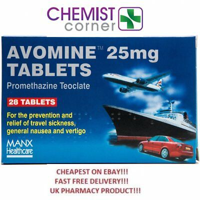 ⭐️SPECIAL OFFER⭐️Avomine 25mg 28 Tablets - For travel sickness