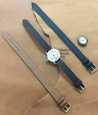 Size 10/12/14mm Vintage Military Style Trench Watch Wristwatch Strap #26B