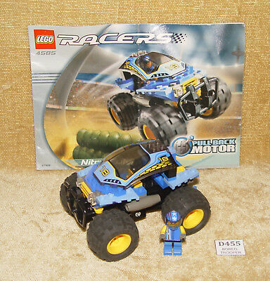 LEGO 3x pull back motors with wheels sleek tyres car base freestyle pullback