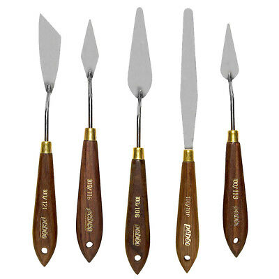 Pebeo Wooden Handled Stainless Steel Painting Palette Knives for Oil & Acrylic