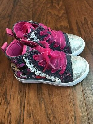 NEW Toddler Girls Minnie Mouse High Top Shoes Size  8 or 12