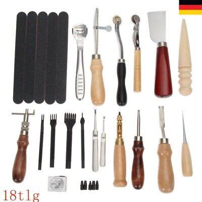 18tlg Leder Werkzeug Stitching Craft Hand Sewing Stitching Groover Kit Set DIY