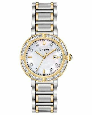 Bulova 98R260 30mm 24 Diamonds Accented Two-Tone Women's Watch  -  NEW!