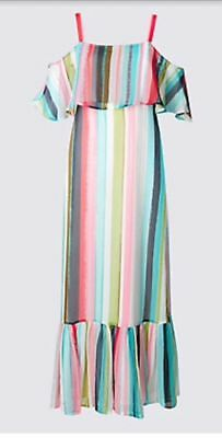 Size 22 Candy Striped Maxi Dress Marks And Spencer