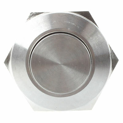 Stainless Steel Momentary Push Button Switch 22mm Flush Mount SPST ON/OFF E4K7