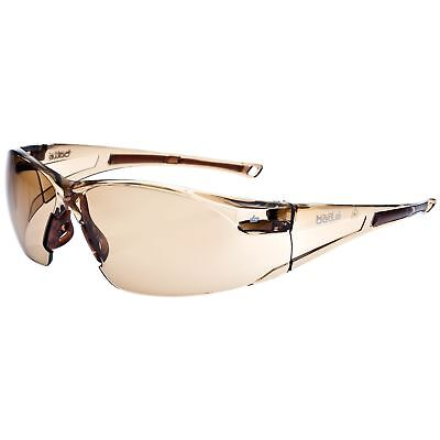 Bolle Rush Safety Glasses with Brown Anti-Fog Lens