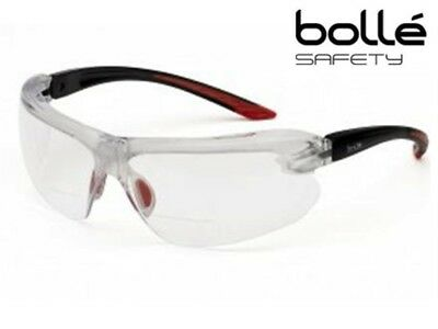 Bolle IRIS Clear Bifocal Dioptric Reading Area Safety Glasses +1.5, +2, +2.5, +3