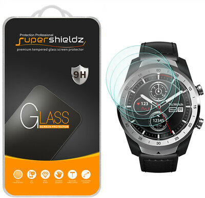 3X Supershieldz Tempered Glass Screen Protector Saver for TicWatch Pro