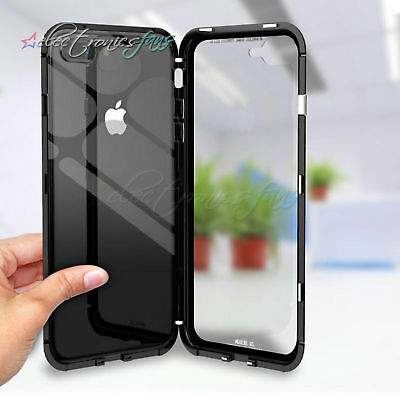 Magnetic Adsorption Metal Glass Protective Case for IPhoneX 8 7 6 plus