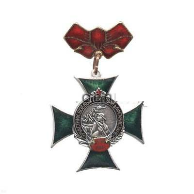 BADGE Member of fighting in Afghanistan (green cross) (on the bar - red ribbon)