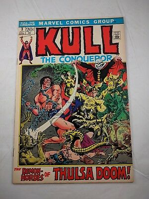 Kull the Conqueror #3 (Jul 1972, Marvel) [VF+] HIGH GRADE! THULSA DOOM COVER!