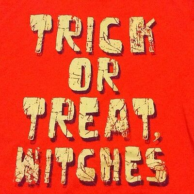 Halloween Trick Or Treat Witches T Shirt L