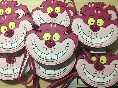 Primark Disney Alice In Wonderland Cheshire Cat Face Purse BNWT Zip Coin Handle