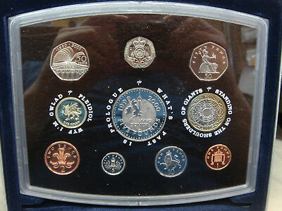 2000 Great Britain UK Royal Mint 10 Coin Annual Proof Coin Set Five Pounds etc.