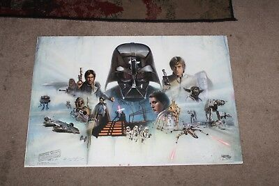 STAR WARS CELEBRATION  Poster Signed BRIAN ROOD Limited Ed  RARE