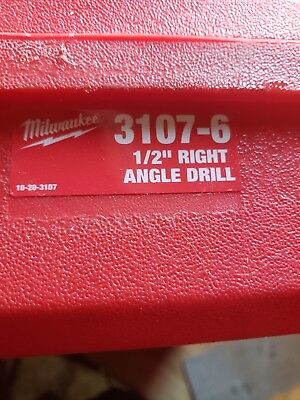"Milwaukee 1107-6 1/2"" Right Angle Drill w/Case"