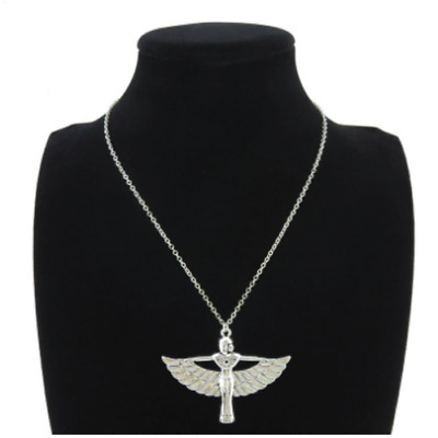 New Silver Plated Egyptian Goddess Egypt Necklace Pendant Jewellery Gift Wedding
