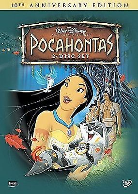 Pocahontas (10th Anniversary Edition), Good DVD, Mel Gibson, Linda Hunt, Christi
