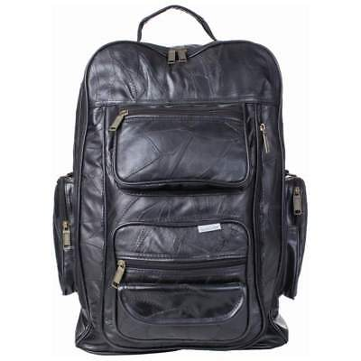 Embassy Italian Stone Design Genuine Leather Trolley Rolling Backpack
