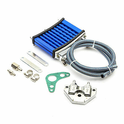 Motocross Blue Pit Bike OIL COOLER KIT Comes All Fittings & Pipes & Instructions