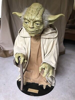 Life Size Yoda Figure From Idea Planet. Displayed In Theater Lobbies + Comicbook