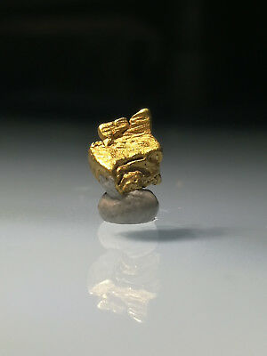 Crystalline GOLD NUGGET specimen RARE Crystalized ALASKA hoppered cubic 0.27g