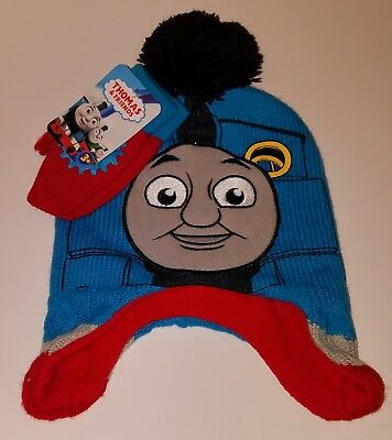 NWT Thomas & Friends Hat + Mittens Set TODDLER ONE SIZE Tank Engine Train