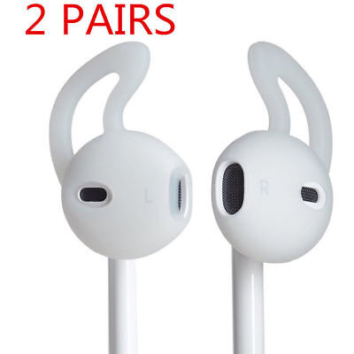 2 Pairs Headphone Cover Silicone Earbuds Black/White For iphone 7/Plus Headset
