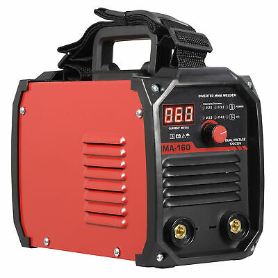 110V 220V DC Inverter Welder Mini Handheld Arc Welding Machine MMA 20-160A IGBT