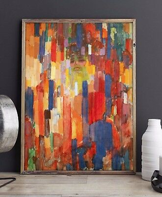Modern Abstract Art Living Room Decor Canvas Hand-Painted Oil Painting Wall Gift
