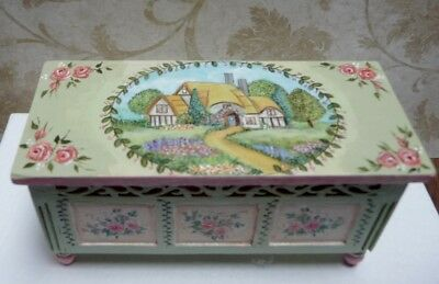 Hand Painted 1:12 Scale Miniature English Cottage Chest