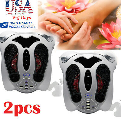 2xCirculation Medical Blood Booster Electromagnetic Foot Massager Infrared+8pads