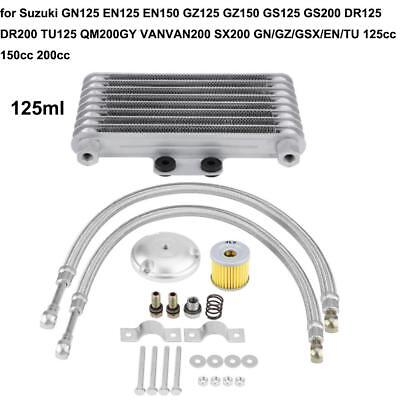Motorcycle 125ml CNC Aluminum Oil Cooler Engine Radiator System Kit for Suzuki