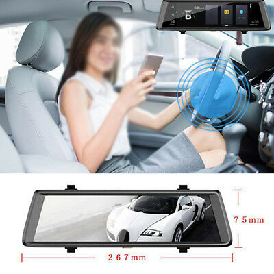"10"" Android 5.1 Quad Core WiFi Rearview Mirror Car DVR Camera Video Recorder Kit"