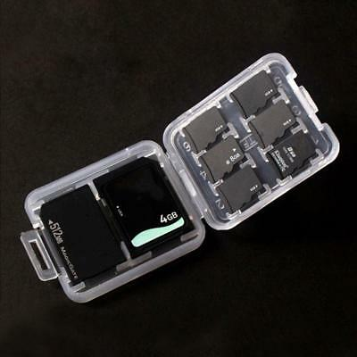 Memory Card Storage Case Holder with 8 Slots for SD SDHC MMC MicroSD Card w/