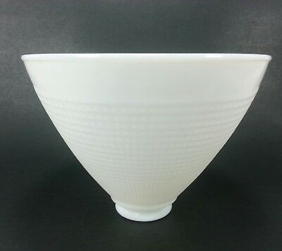 "Vintage Corning 820120 Waffle 8"" Milk Glass Torchiere Lamp Shade 2 1/4"" Fitter"