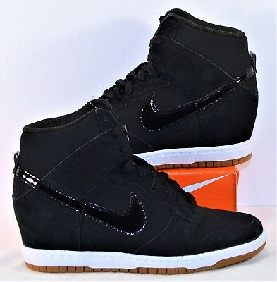 ea352b613a14 Nike Dunk Sky Hi Essential Wedge Black   Gum Womens Shoe Sz 10 NEW 644877  011