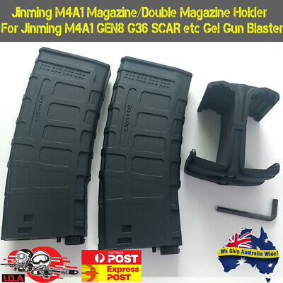 DOUBLE MAG HOLDER Jinming Gen8 M4A1 SCAR 7mm-8mm Magazine Clip Gel Ball Blaster