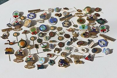 70+  Mixed Club Style PINS BADGES Toastmasters Lions Norfolk Bowling Etc