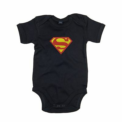 Superman Logo Bodysuit Romper embroidered Outfit Clothes Newborn Also