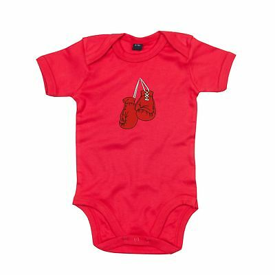 Boxing Gloves Bodysuit Romper embroidered Outfit Clothes Newborn Also