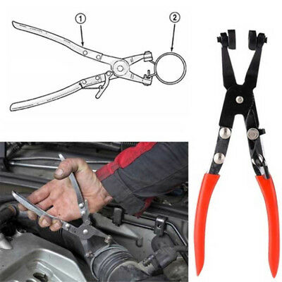 Pro Angled Swivel Jaw Locking Car Pipe Hose Clamp Pliers Fuel Coolant Clip Tool