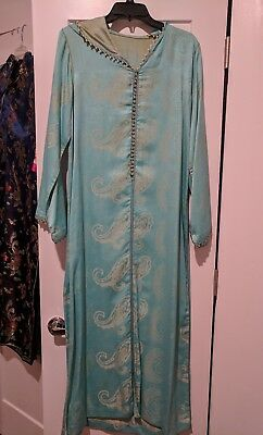 Kaftan Moroccan Women Arabian Beach Summer Caftan Long Dress Muslim Abaya Jelaba