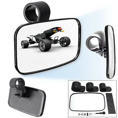 Center Mirror Set Adjustable Wide Rear Clear View For UTV Off-Road Universal