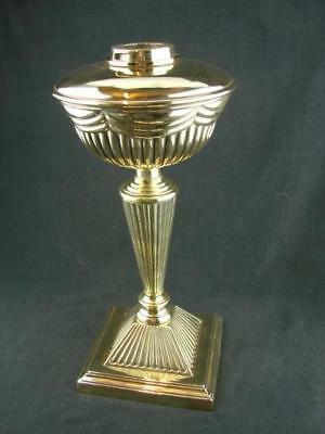 Fabulous Tall Victorian Embossed Brass Oil Lamp Base & Font, Duplex Bayonet Fit