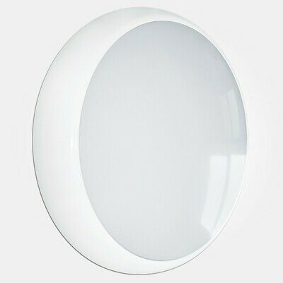 LED Ceiling Light With EMERGENCY White Bulkhead 18 Watts Modern Slim Cool White