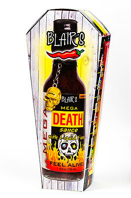 Blair's MEGA DEATH SAUCE! BLAIRS HOT chilli BBQ PARTY SPICY Habanero Cayenne