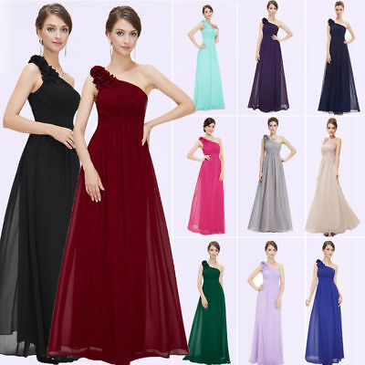 Ever-Pretty US Long Bridesmaid Dresses One Shoulder Evening Party Dresses 08237