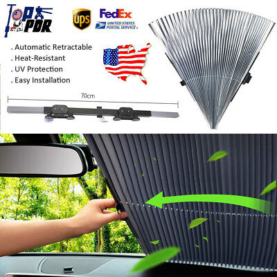 Car Retractable Front Window Sun Shade Visor Folding Windshield Block Cover TOP